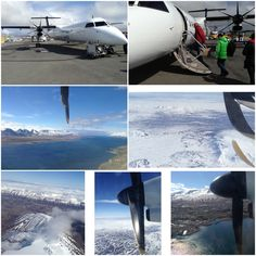 Iceland. Fly from Reykjavik to Akureyri