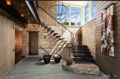 Сквозная лестница массив