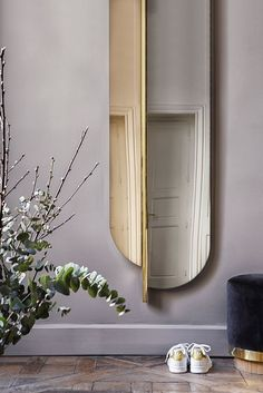 Mirrors РHome Decor : Miroir Totem en verre gris fum̩ et laiton, Red Edition РGrey smoked Totem mirror, plated brass frame, Red Edition -Read More Р- Gold Furniture, Luxury Furniture, Vintage Furniture, Living Room Furniture, Furniture Design, Furniture Hardware, Modern Furniture, Rustic Furniture, Mirror Furniture