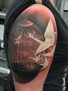 Tattoo by Jartsa - http://www.duckstattoo.fi/en/gallery.php?code=jartsa-galleries  cage.. #Tattoos