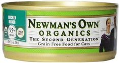 Newman's Own Organics 95% Chicken Grain-Free Food for Cats, 5.5-Ounce (P... #NewmansOwn