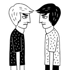 New trendy GIF/ Giphy. black and white illustration fight argue boglio pusher #boglio #argument. Let like/ repin/ follow @cutephonecases