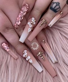 – You are in the right place about Nail acrilico Here we offer you the most beautiful pictures about – … Sexy Nails, Glam Nails, Dope Nails, Classy Nails, Stylish Nails, Bling Nails, 3d Nails, Bling Acrylic Nails, Best Acrylic Nails