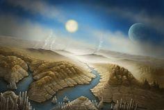 Una rappresentazione artistica del pianeta extrasolare Kepler-542b, il mondo più simile alla Terra che orbita una stella molto simile al nostro Sole, finora trovato.