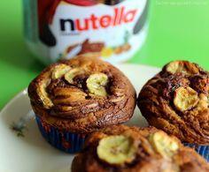 Sachen die glücklich machen: Bananen-Nutella-Muffins