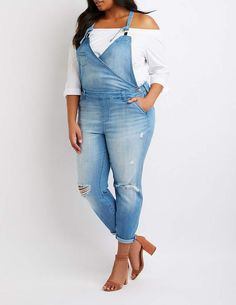c2feaa012c1ee Charlotte Russe Plus Size Refuge Denim Overalls plussize  denim   plussizedenim plussizedenim