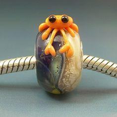 Coral Crab ~ Handmade European Charm Bead