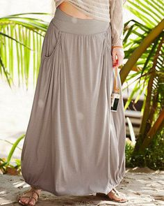 Our Favorite Maxi Knit Skirt is back in new neutral hues that keep your look beautifully grounded.
