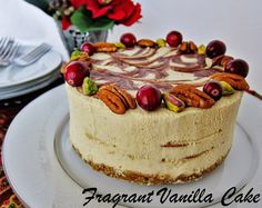 Raw Eggnog Cheesecake with Chocolate Swirl and Gingerbread Crust