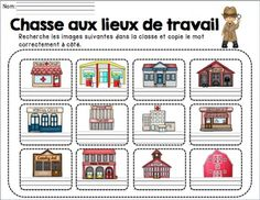 by Madame Emilie French resources Grade 1, French Resources, Community Helpers, Teaching French, Yearly, Teacher Resources, Social Studies, Peru, Montessori