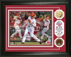 "AAA Sports Memorabilia LLC - Jay Bruce Cincinnati Reds ""Triple Play"" Gold Coin Photo Mint, $99.95 (http://www.aaasportsmemorabilia.com/mlb-memorabilia/jay-bruce-triple-play-gold-coin-photo-mint/)"