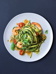 Prep Time: 20 Minutes | Cooking Time: 10 MinutesServes 4 A quick and healthy dinner, this courgetti dish is a balance of simple but delicious flavours and the prawns are a good source of omega-3s, essential fatty acids that our bodies don't naturally produce.