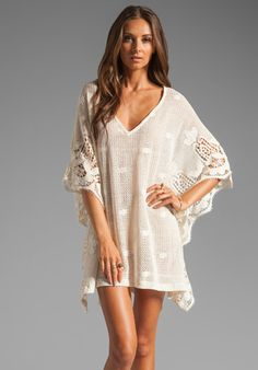 EBERJEY Gypsy Traveler Farrah Cover Up in Natural at Revolve Clothing