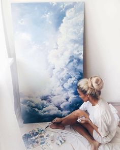 """Canggu I"" Cloud Painting drawing acuarela Acrylic Painting Cool Artwork, Artwork Ideas, Amazing Artwork, Love Art, Creative Art, Watercolor Art, Art Drawings, Art Projects, Art Photography"