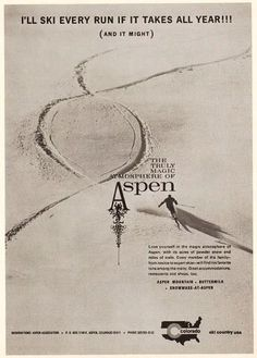 Cool old Aspen Ad