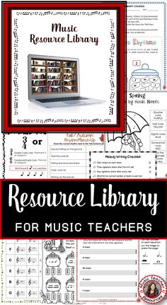 FREE Resource Library for music teachers!  ♫ CLICK through to read more and subscribe to gain access! ♫