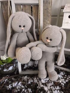 XXL Funny Bunny haakpakket Basic zittend/staand taupe | Funny Haakpakketten | CreaMijn Baby Stuffed Animals, Stuffed Animal Cat, Crochet Bunny, Crochet Animals, Toddler Toys, Kids Toys, Crochet Dolls Free Patterns, Pet Mice, Knitted Cat