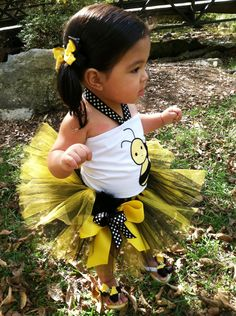 Halter top and Tutu! Super cute!! But ladybugs are cuter than bumblebees!