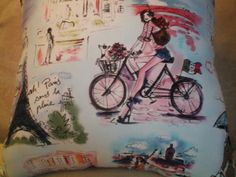 1 Novelty Pillow  Who is that Girl in Paris by NoveltyPillows4All, $22.95