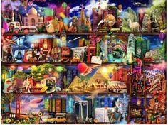 World Travel Book Shelf