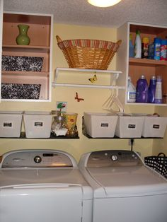 Refreshed our laundry room