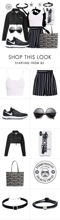 """Creation #134"" by katlaura ❤ liked on Polyvore featuring BasicGrey, NIKE, Off-White, Moschino, Alice + Olivia, WithChic, Lokai and Gucci"