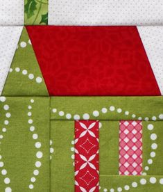 It's Friday and Day 5 of the Merry and Bright Quilt-along! And today we're making Christmas houses! We're paper piecing one last ...