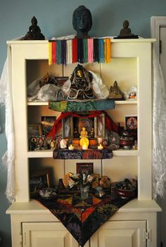 small buddhist altar in a home | My Sacred Space /Buddhist Alter ...