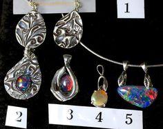 ON VIDEO: 27 Opal Necklaces! Solid Australian Opal Pendants. Solid Ethiopian Opal necklaces.  Black opal necklace.  White opal pendants.