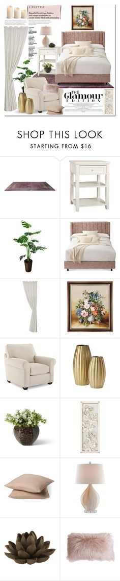 """""""Cozy Bedroom"""" by ela79 ❤ liked on Polyvore featuring interior, interiors, interior design, home, home decor, interior decorating, Sarreid, PBteen, HiEnd Accents and Rodeo Home"""