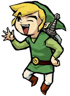 Link Waving - Characters Art - The Legend of Zelda: The Wind Waker HD (STOP BEING SO SASSY!!!)