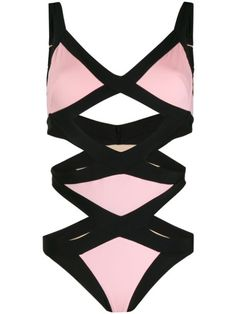 Agent Provocateur Mazzy Swimsuit In Black/pink Pink Swimsuit, One Piece Swimsuit, Pink Photo, Agent Provocateur, Swimsuits, Women's Swimwear, Bikinis, World Of Fashion, Women Wear