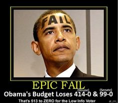 Great Moments in #Obama's Presidency: His Budget LOSES 513-ZERO. #tcot #gop #TeaParty #OiP