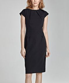 This Black Contour Crew Neck Dress is perfect! #zulilyfinds