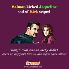 Salman kicked Jaqueline out of Kick sequel