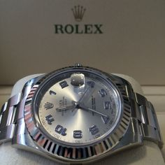 The Rolex Datejust II with blue arabic hour markers #Stunning http://www.globalwatchshop.co.uk/rolex-datejust-ii-rhodium-blue-arabic-dial-116334.html?utm_content=buffere0ae3&utm_medium=social&utm_source=pinterest.com&utm_campaign=buffer Click for details