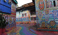 Rainbow Family Village: uma vila encantada por cores em Taichung, Taiwan
