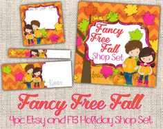 Autumn Etsy Banner Shop Set  Facebook Timeline Set  by ShopKandy