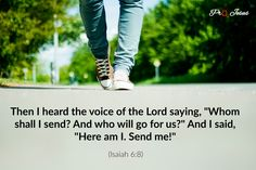 Quote of the Day: Isaiah Isaiah 6 8, Quote Of The Day, Verses, Sayings, Quotes, Tattoo Ideas, Thoughts, Quotations, Qoutes