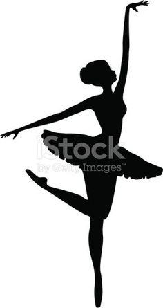 Energia bailarina dança silhueta
