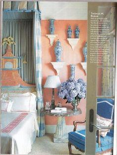 Chinoiserie Chic Thomas Burak Paa Bedroom Peach Rooms Walls White