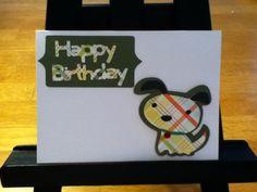 Copious: Green Plaid Happy Birthday Dog Greeting Card