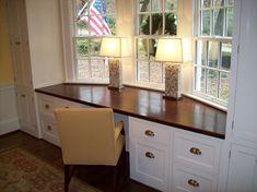 Built in desk - by cutmantom @ LumberJocks.com ~ woodworking community