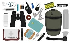 Camping Gear Layout Camping Hacks - Everything About Camping Tools Best Camping Gear, Camping Tools, Camping Supplies, Camping Survival, Camping Equipment, Tent Camping, Camping Hacks, Diy Camping, Snow Camping