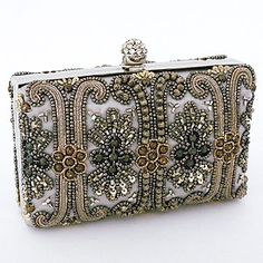 Moyna beaded evening bags. Fabulous beaded evening bags, clutches and purses with stunning beading. Discover a variety of beaded handbags at Perfect Details.
