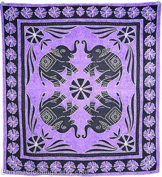 Purple Batik Tapestry wall hanging art hippie bedsheets fabric art picnic blanket Elephants Hanging Art, Tapestry Wall Hanging, Elephant Room, Lilac, Purple, Fabric Art, Bed Sheets, Picnic Blanket, Elephants