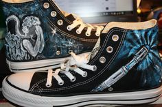 Doctor Who Converse High-Top Shoes.