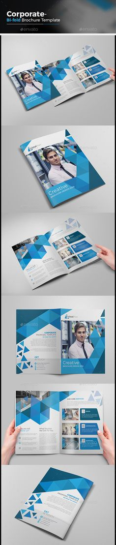 Corporate Bi-fold Brochure Vector Template EPS, AI #design Download: http://graphicriver.net/item/corporate-bifold-brochure/13933466?ref=ksioks