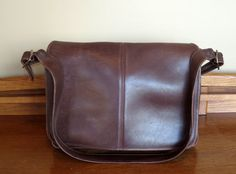 Coach Full Flap Messenger Bag In Mahogany Leather With Nickel Hardware Style No. 5206- Very Good To Excellent Used Condition by ProVintageGear on Etsy