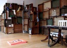 tracey neuls pop-up shop - london  a creative reuse of discarded drawers